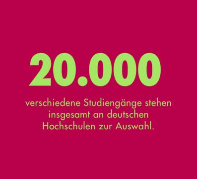 20000 verschiedene Studiengänge